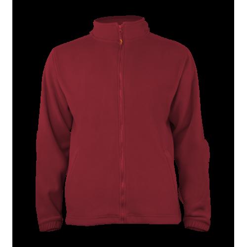 Pánská fleece J403 - Tmavě červená
