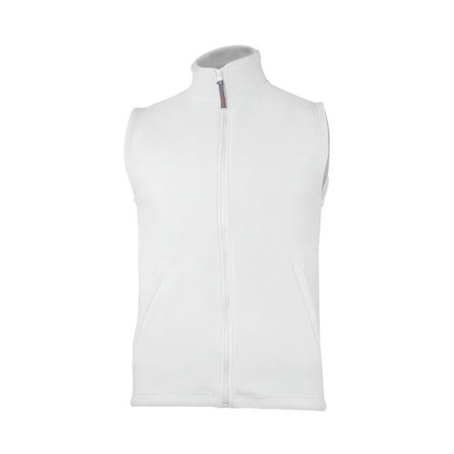 Fleecová unisex vesta - Bílá