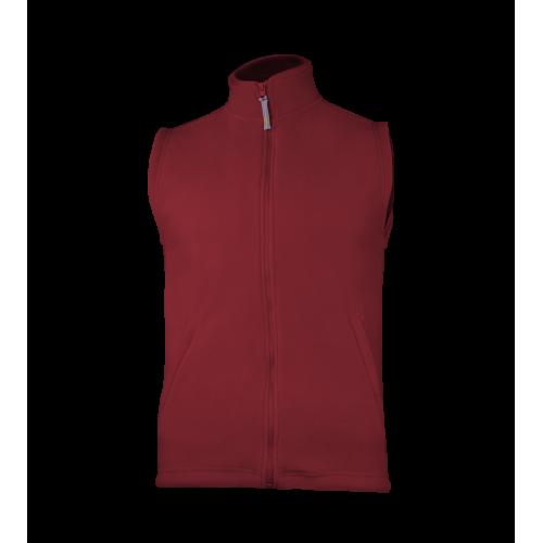 Fleecová unisex vesta - Tmavě červená