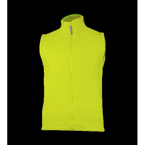 Fleecová unisex vesta - Limetkově zelená