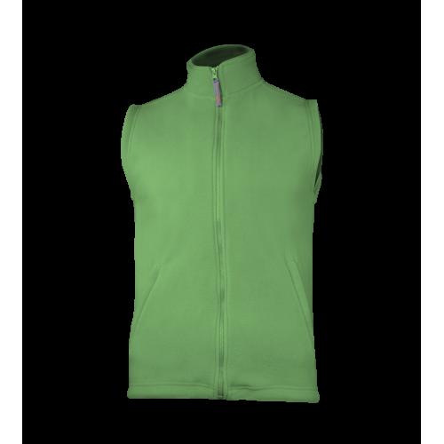 Fleecová unisex vesta - Zelená