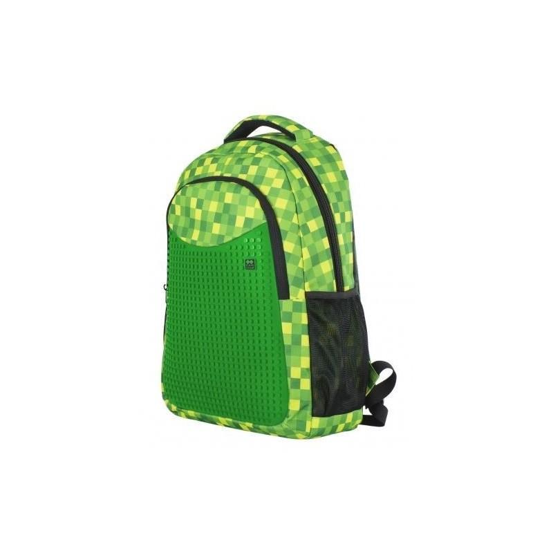 6bd8a94e5a2 AKCE  Školní pixelový batoh zelená kostka + penál + 6 sad pixelů
