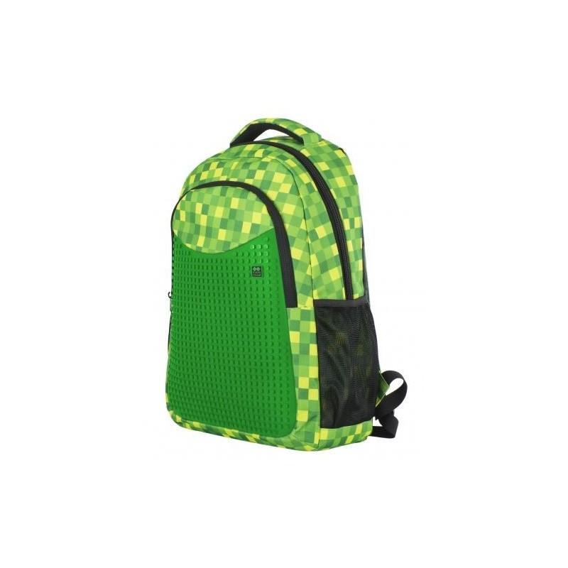 Školní kreativní pixelový batoh zelená kostka