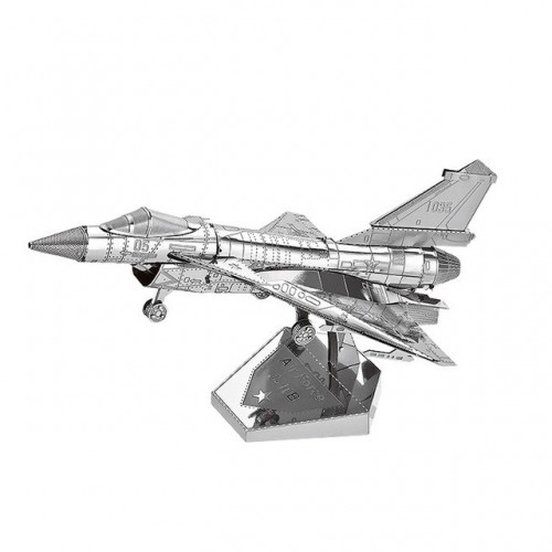 3D ocelová skládačka stíhačky Chengdu J-20