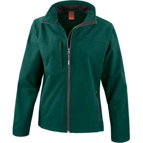 3 vrstvá dámská softshellová bunda FREE - Zelená