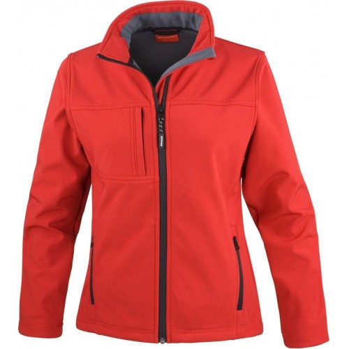 3 vrstvá dámská softshellová bunda FREE - Červená