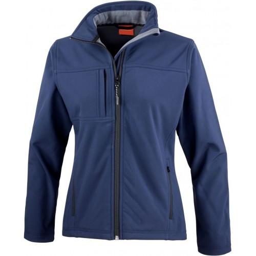 3 vrstvá dámská softshellová bunda FREE - Navy modrá