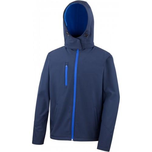 3 vrstvá pánská softshellová bunda s kapucí - Navy modrá