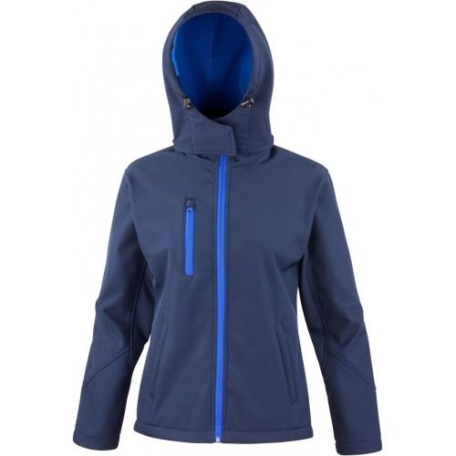 3 vrstvá dámská softshellová bunda s kapucí - Navy modrá