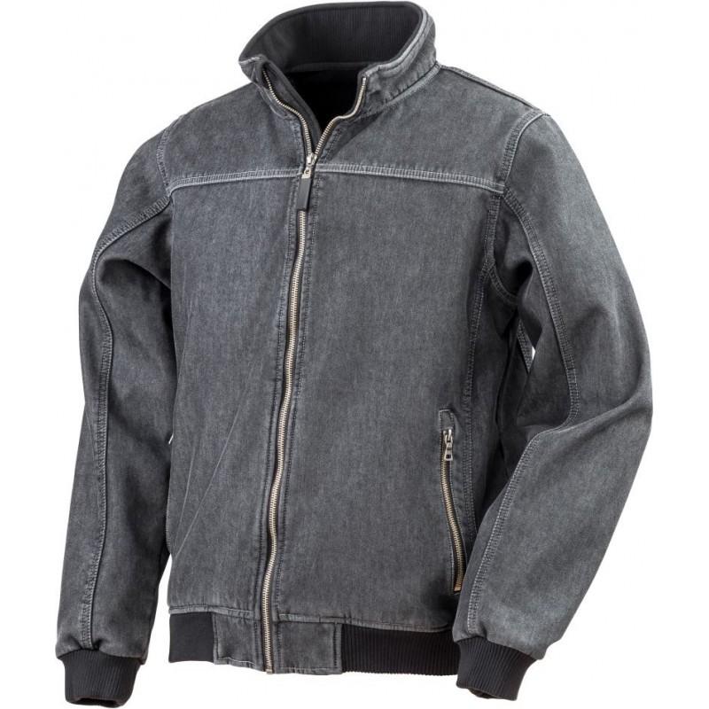 Denim 3-vrstvá Softshell bunda - Černá