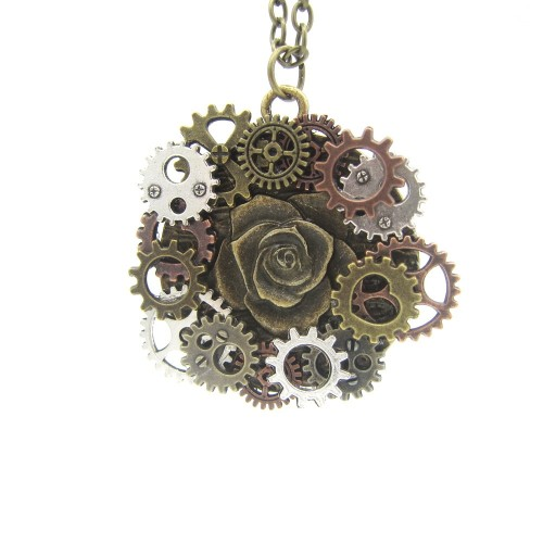 SteamPunk náhrdelník Letka