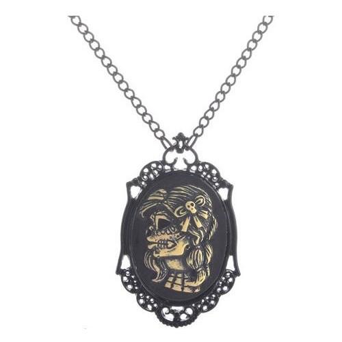 SteamPunk náhrdelník Skull lady