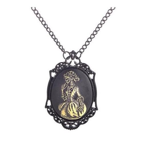 SteamPunk náhrdelník Skull lady 2