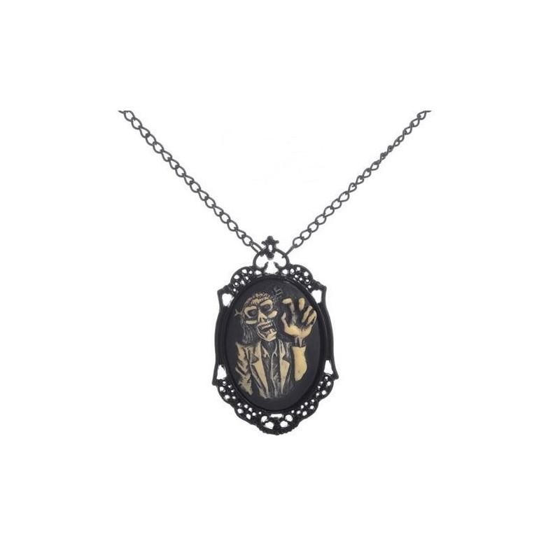 SteamPunk náhrdelník Skull lady 3