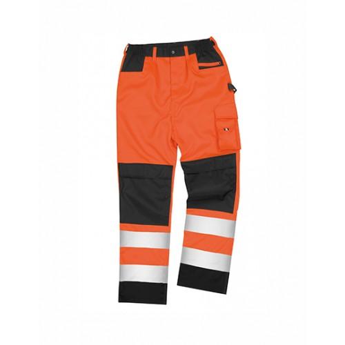Bezpečnostní reflexní kalhoty Safety Cargo - oranžové