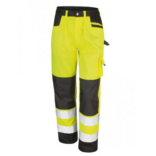 Bezpečnostní reflexní kalhoty Safety Cargo - Žluté