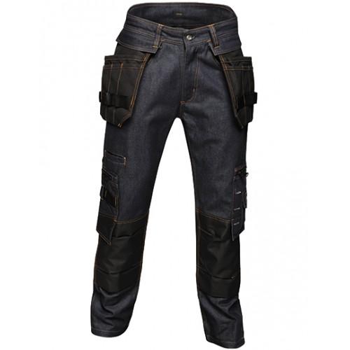 Odolné pracovní denim kalhoty