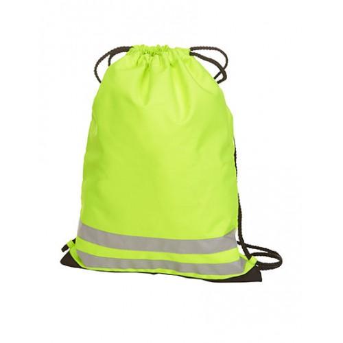 Neon žlutý batoh s reflexní páskou