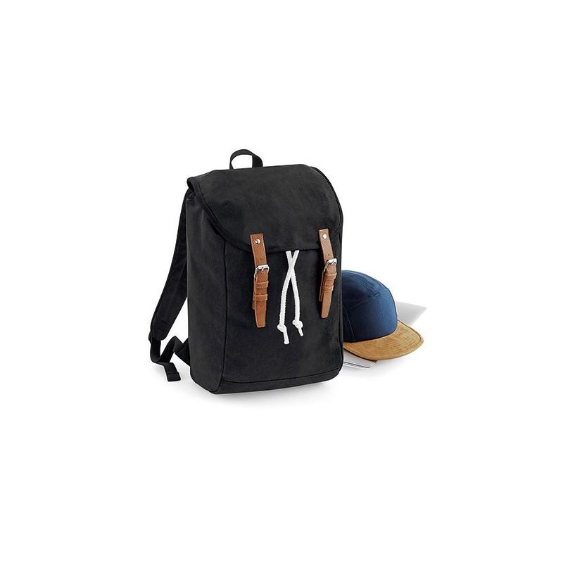 Retro turistický batoh QD - černá