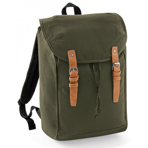 Retro turistický batoh QD - šedá
