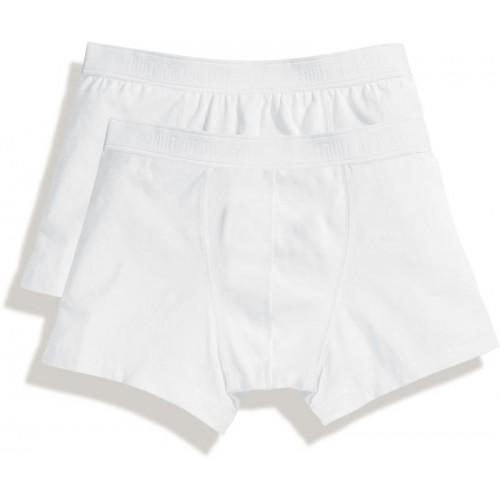 2x pánské boxerky Classic Shorty - bílé