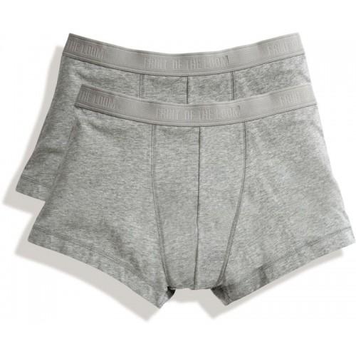 2x pánské boxerky Classic Shorty - šedá