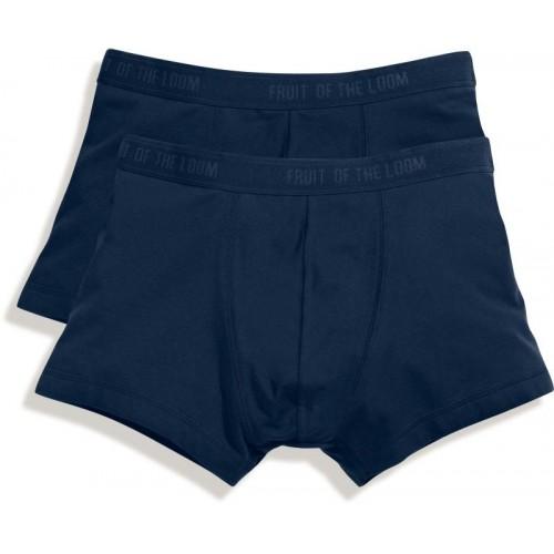 2x pánské boxerky Classic Shorty - Modrá