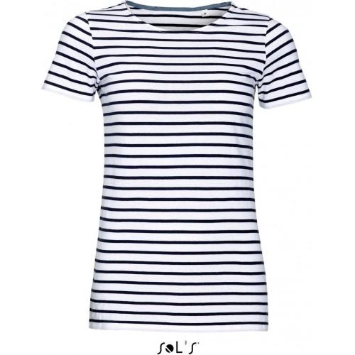 Pruhované tričko SOL'S Bílo-Modré - Pánské