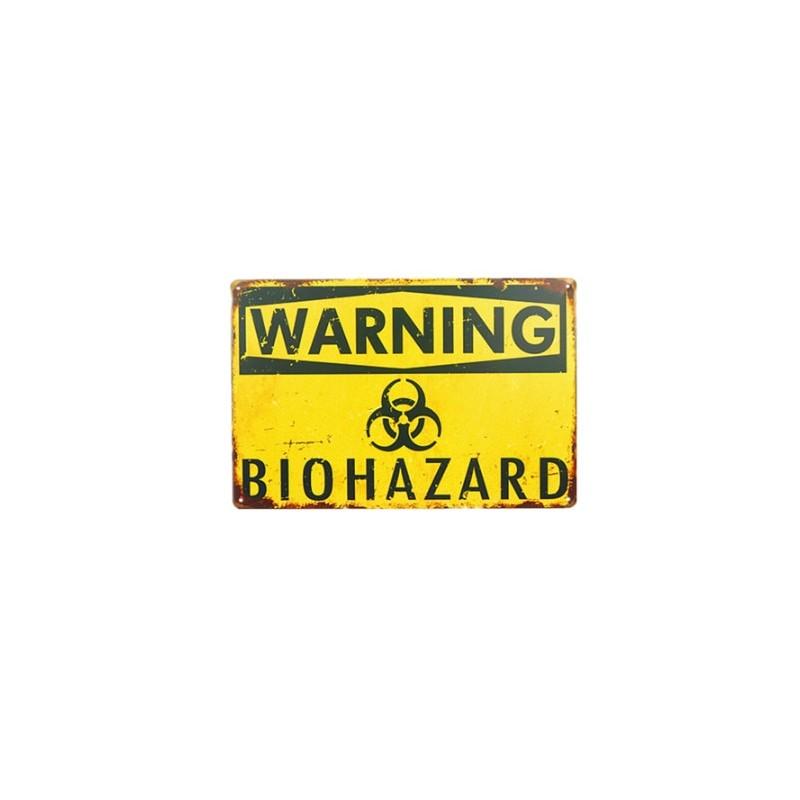 Plechová cedule Warning - Warning Biohazard