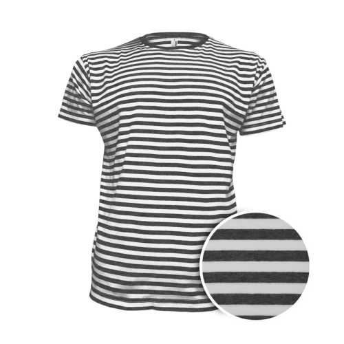 Pruhované tričko Bílo-černé dirk- pánské