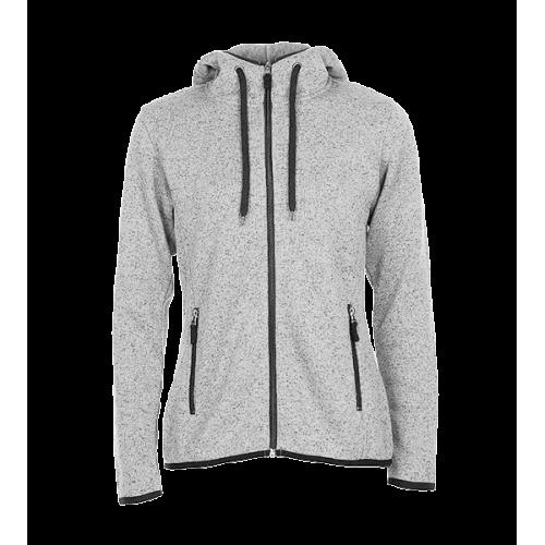 Pletená Fleece mikina dámská - Světle šedá