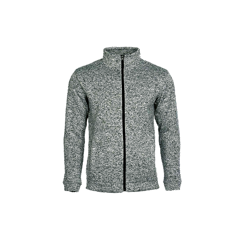 Pletená fleece mikina pánská - Tmavě šedá