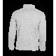 Pletená fleece mikina pánská - Světle šedá