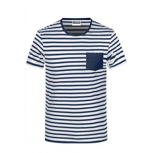 Pruhované tričko Bílo-modré JN WN- pánské