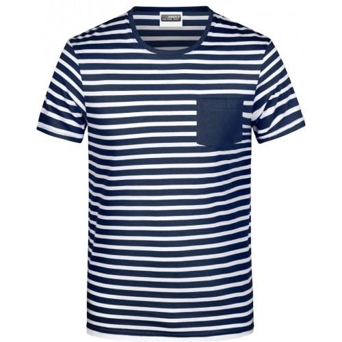 Pruhované tričko Bílo-modré JN NW2- pánské