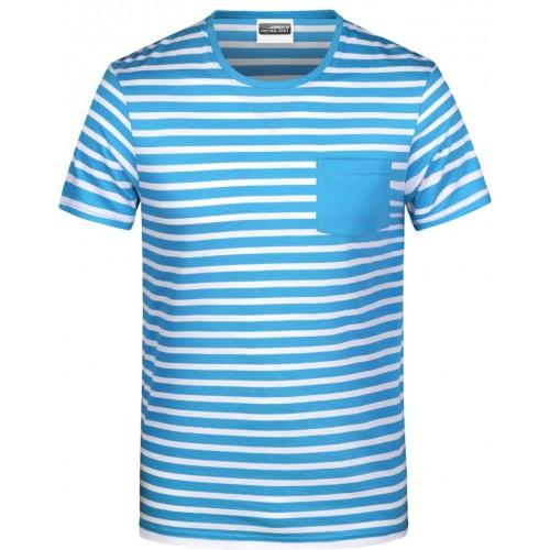 Pruhované tričko Bílo-modré JN AW- pánské