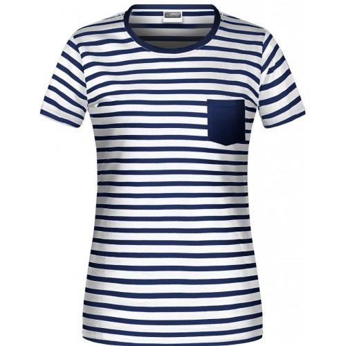 Pruhované tričko Bílo-modré JN WN- dámské
