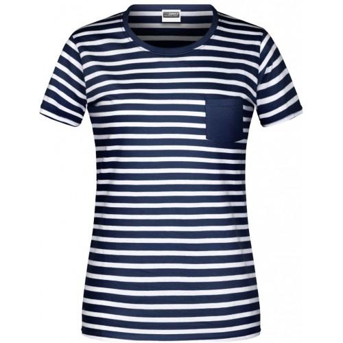 Pruhované tričko Bílo-modré JN NW2- dámské