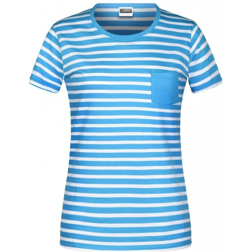 Pruhované tričko Bílo-modré JN AW- dámské