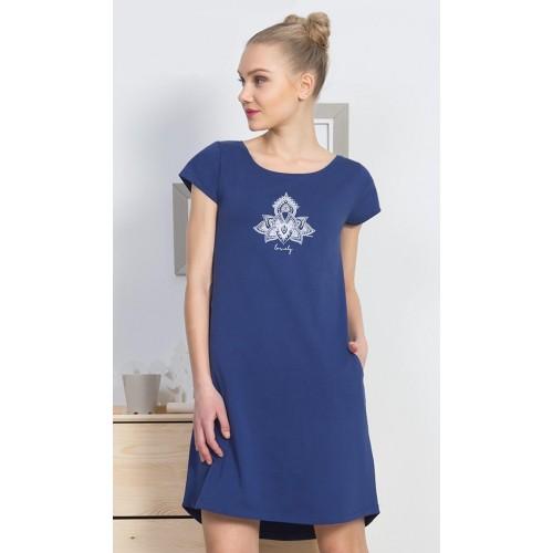 Dámské domácí šaty s krátkým rukávem Lovely