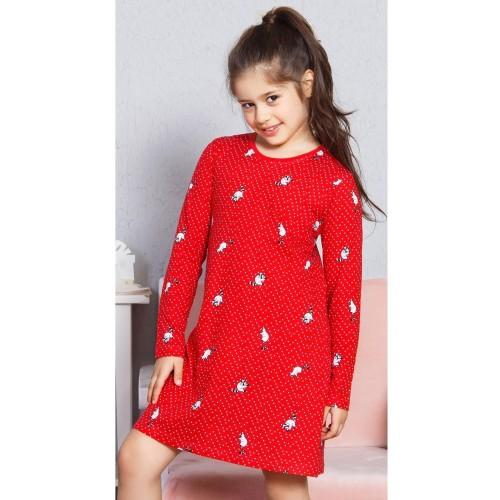 Dětská noční košile s dlouhým rukávem Mýval