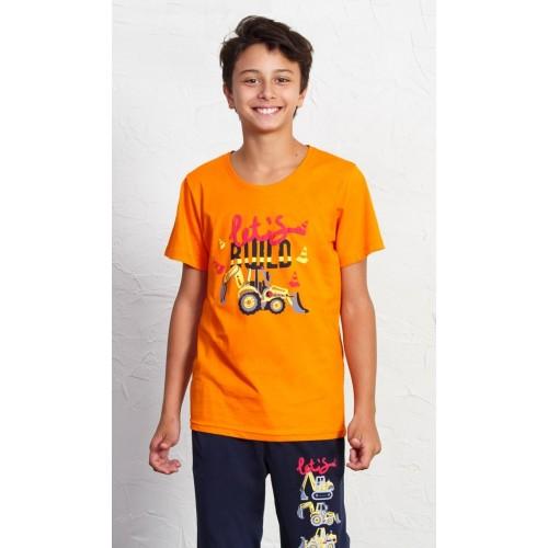Dětské pyžamo kapri Traktorbagr