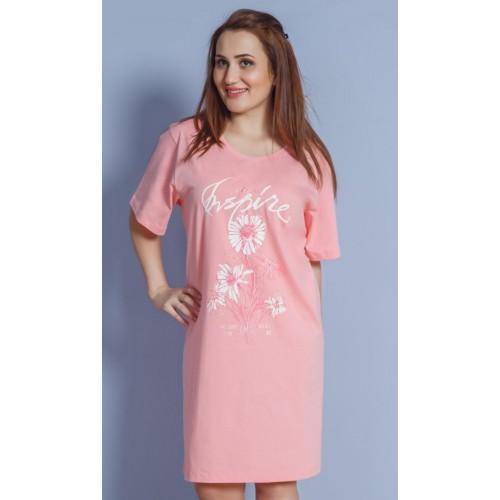Dámská noční košile s krátkým rukávem Kamilka