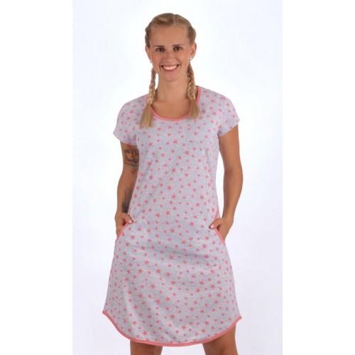 Dámské domácí šaty s krátkým rukávem Stars
