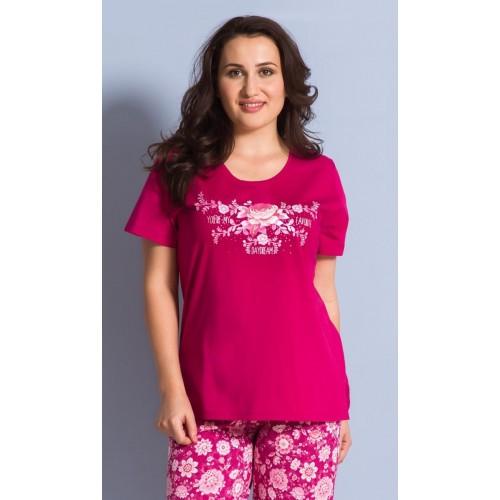 Dámské pyžamo kapri Květena